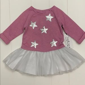 Pippa And Julie Tunic/Dress Silver Stars